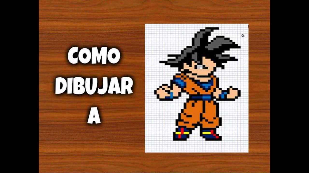 COMO DIBUJAR A GOKU | Para Minecraft | Pixel Art | How to draw Goku ...