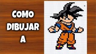 COMO DIBUJAR A GOKU   Para Minecraft   Pixel Art   How to draw Goku