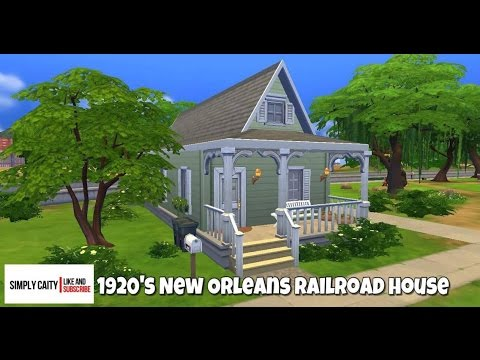 The Sims 4| Speed build| New Orleans Railroad house