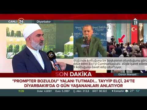 Prompter bozuldu yalanının aslı ortaya çıktı. Tayyip Elçi 24 TV'de anlatıyor