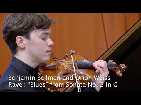 "Benjamin Beilman and Orion Weiss perform Ravel's ""Blues"""