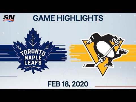 NHL Highlights | Maple Leafs vs Penguins – Feb. 18, 2020