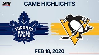 NHL Highlights | Maple Leafs vs Penguins - Feb. 18, 2020