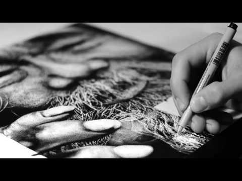 Realistic Portrait Drawing (DotWork)