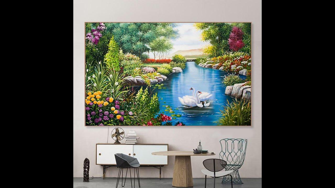 Vẽ tranh phong cảnh nước ngoài treo tường – P1