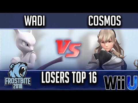 Frostbite 2018 Smash 4 Singles  LOSERS TOP 16 -  WaDi (Mewtwo) vs  Cosmos (Corrin)