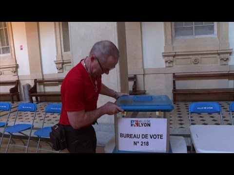 Polling Stations Set Up In Lyon Ahead Of France Vote Youtube