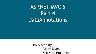 ASP.NET MVC 5 Step by Step: Part 4 Data Annotations