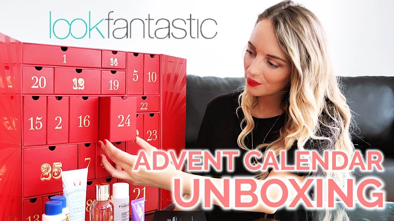 a442e4111418f LOOK FANTASTIC ADVENT CALENDAR 2018 UNBOXING