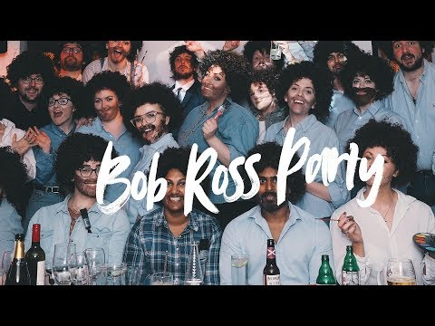 Bob Ross birthday party