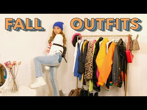 FALL OUTFIT IDEAS 2019 | How To Add Color To Your Fall Outfits