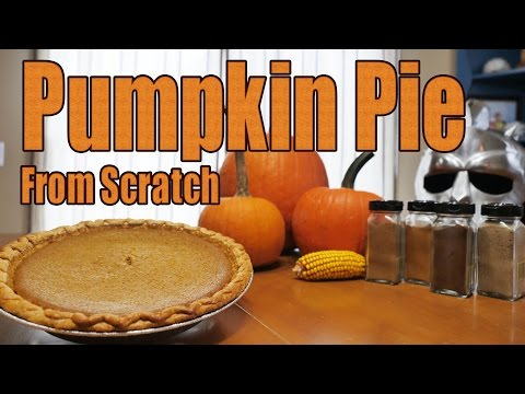 HOW TO MAKE PUMPKIN PIE FROM SCRATCH
