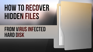 How to recover hidden files from virus infected hard disk or How to recover data from usb and extern