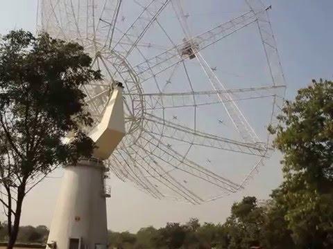Giant Metrewave Radio Telescope (GMRT) in action