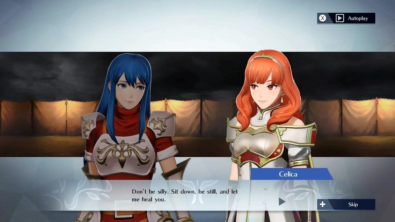 Fire Emblem Warriors Caeda Celica Support Conversation Youtube