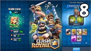 Clash Royale - VALKYRIE UPGRADE + REACHING LVL 4 & ARENA 3!