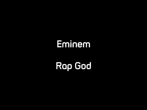 Eminem - Rap God (Lyrics)