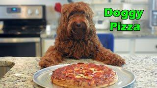 Dog Makes Pizza [Funny Chef Dog Kaia Cooks Pizza!]