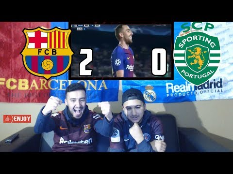 REAL MADRID FAN REACT TO: BARÇA 2-0 WIN OVER SPORTING - REACTION