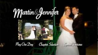 Martin & Jennifer Wedding DVD Menu & DVD Cover (Promo)