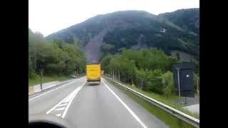 Trucking through Mt. Blanc Tunnel