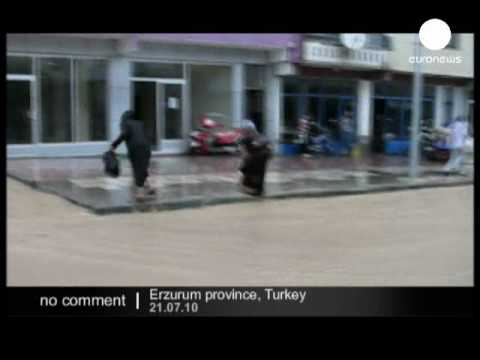 Floods and mudslides in Turkey's Erzurum province - no comment