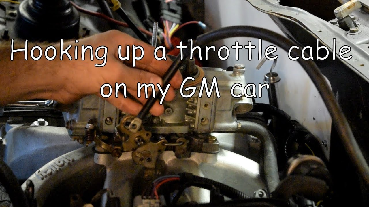 Hooking up my Camaro throttle cable to a Holley - YouTube