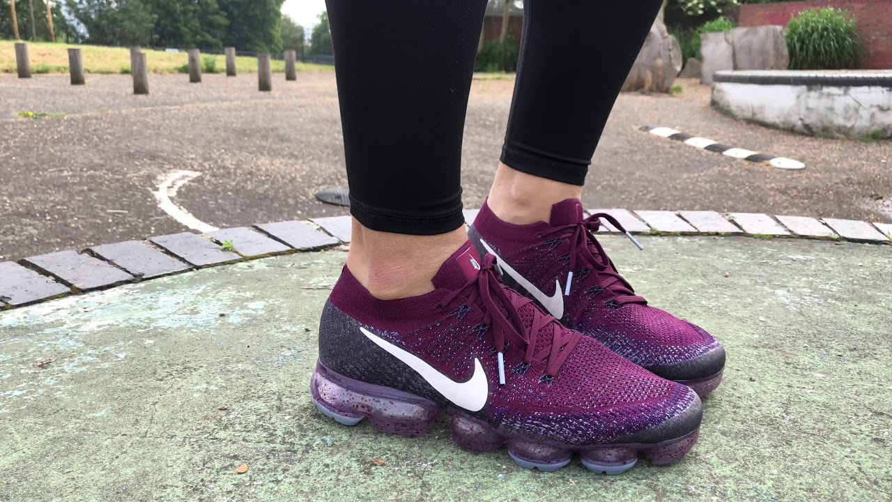 8aac860713 Women's Nike Lab Air VaporMax Flyknit (Bordeaux/Desert Sand/College Navy)