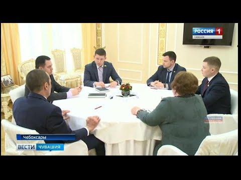 Михаил Игнатьев встретился с представителями фракции ЛДПР в Госсовете Чувашии
