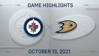 NHL Highlights   Jets vs. Ducks - Oct. 13, 2021