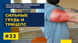 Эффективные упражнения на грудь и трицепc Тренировка дома
