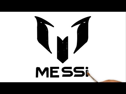 Drawing The Lionel Messi Logo Lionel Messi Coloring Page Youtube