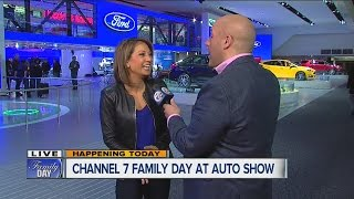 Ginger Zee at the Detroit Auto Show