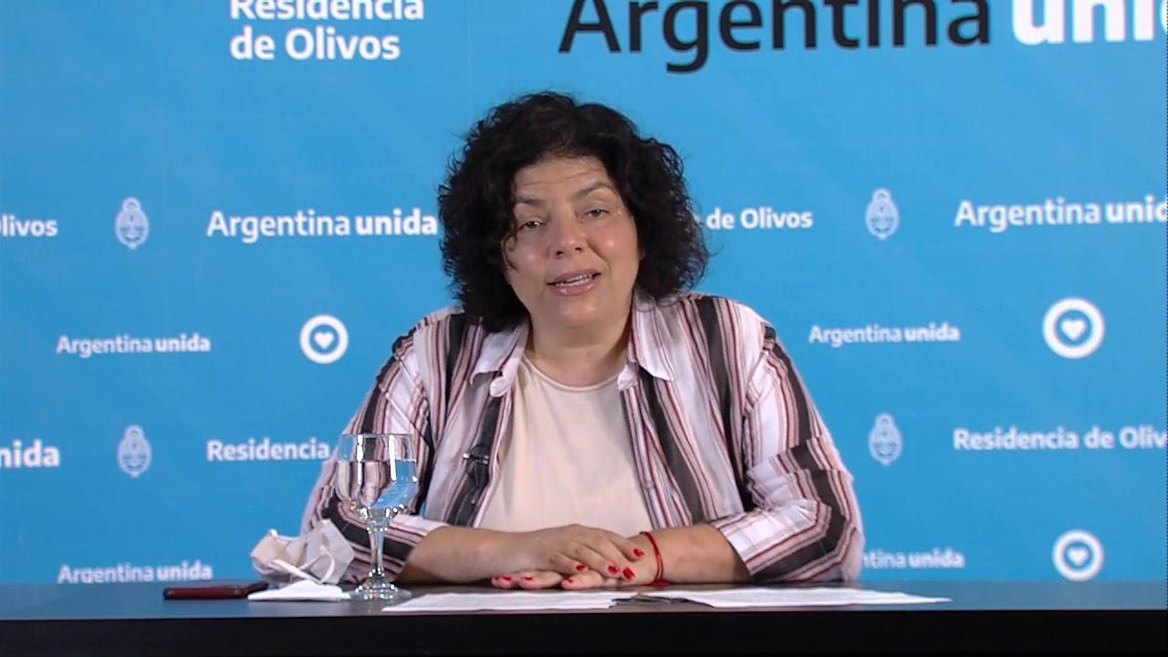 Anuncio del Jefe de Gabinete, Santiago Cafiero y la ministra de Salud, Carla Vizzotti