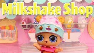 LOL Surprise Dolls Open a Num Noms Milkshake Shoppe! Featuring Sugar Queen, Fancy, and Coconut QT!