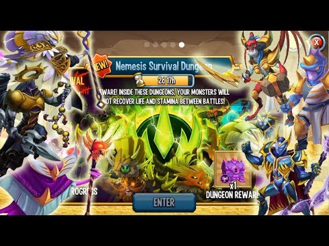 Monster Legends Nemesis Survival Dungeon get reward review combat node