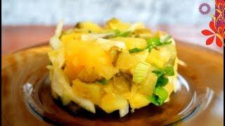 Салат с картошкой и огурцом. Отличное сочетание солёных огурцов и картофеля.