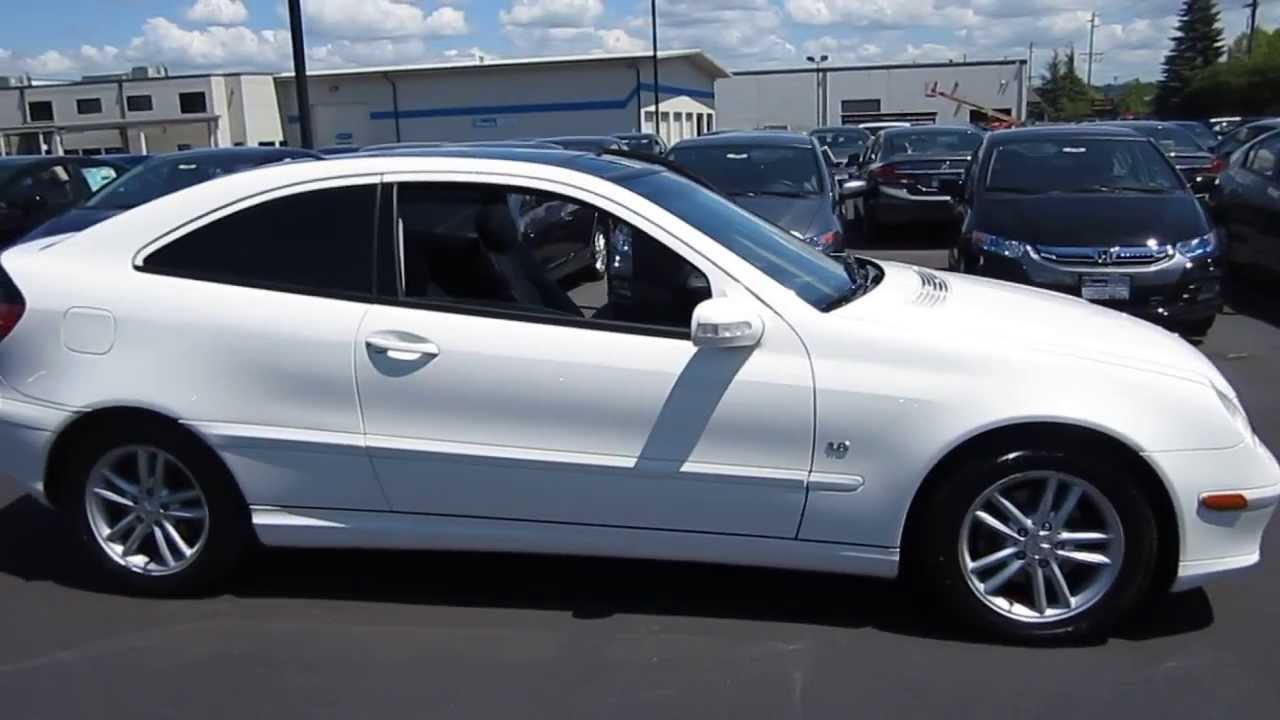 2003 mercedes benz c230 white stock 730865