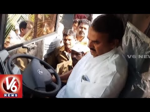 Minister Jupally Krishnarao Launches 4 Mini Bus Services at Kollapur Bus Depot | Mahbubnagar | V6