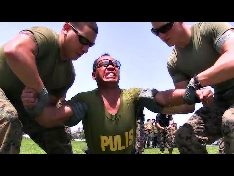 U.S. Marines Tasering Philippines Military & Police - Taser Techniques Training