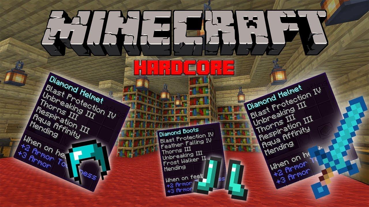 Minecraft 9.96.9 (Nether Update) Best Enchantments HardCore Mode