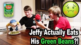 Jeffy FINALLY Eats ALL Of His Green Beans!!! BTS