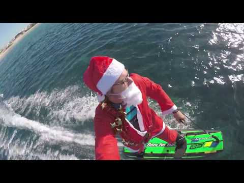 Santa in Paradise 4K drone footage 35 minutes of pure jet surfing meditation