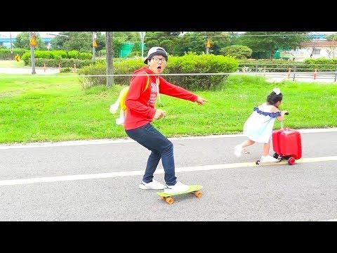보람이의 마더스픽 마블 캐보드 경주놀이 Boram Ride On Scooter Toy
