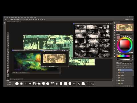 Digital Painting Tutorial : Custom Shapes Workflow part1