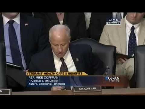 Rep. Coffman Speaks at a Senate Veterans