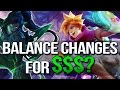 DOES RIOT BALANCE CHAMPIONS around skins to make more money? (League of Legends)