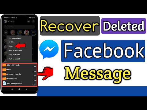 Recover Deleted Facebook Messages Easy & Fast | Restore Deleted Facebook Message