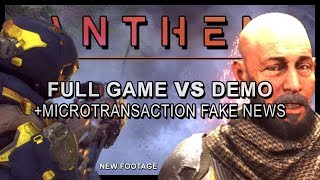Anthem  How the Full Game is Different to VIP Demo  Microtransactions Legendaries  More