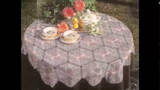 Вязанные скатерти крючком на стол. Красивые скатерти на стол
